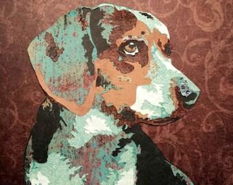 Custom Pet Portrait - Dog Portrait - Custom Dog Portrait - Pet Portrait - Pet Memorial - Cut Paper Art - Hand Cut Paper - Paper Cut