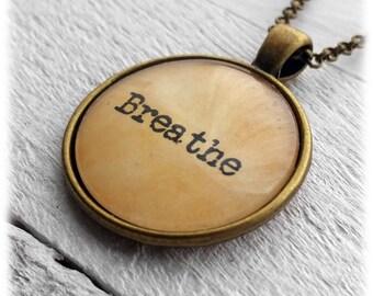 Breathe Pendant & Necklace
