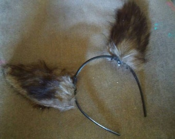 Faux Fur Wolf Ears with wire inserts