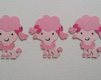 Poodle Die Cut set of 3