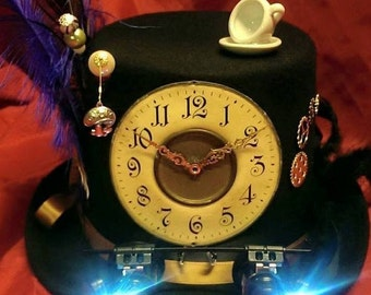 Steampunk Festival Top Hat Mad Hatter Alice through The Looking Glass Alice in Wonderland Liteup Goggles Time Clocks Wheels Tea Time Cosplay