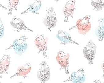 Desert Bloom by Riley Blake - Bird Multi - Cotton Woven Fabric