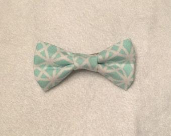 Fabric Hair Bow - Mint Green