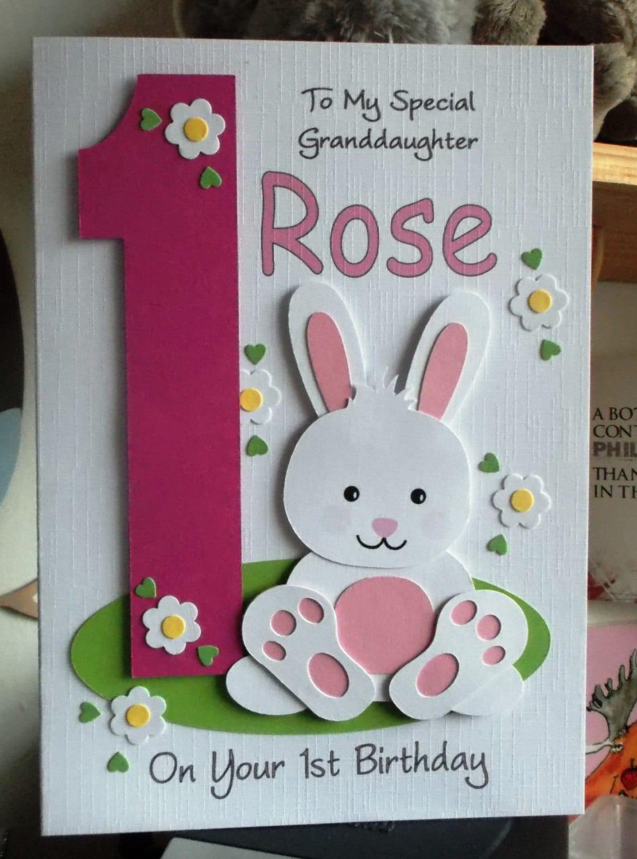 personalised handmade 1st 2nd 3rd etcbunny rabbit birthday