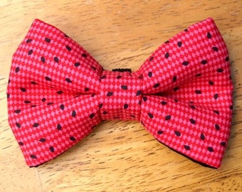 Watermelon Seed Dog Bow Tie - Dog Bowtie - Dog Bowties - Pet Bows - Dog Bows - Dog Bow Tie Wedding - Cat Bowtie - Pet Bow Tie - Summer pet