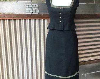SALE! Vintage Traditional German Wool Dirndl Set 10