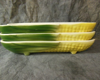 Vintage Corn Dishes - Set of Three - Unsigned