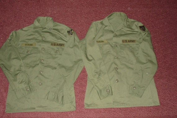 Military Olive Drab Vietnam Era U S Uniform Green Jungle Shirts