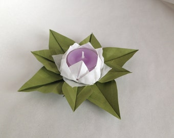 Wedding favor-water lily candle holder