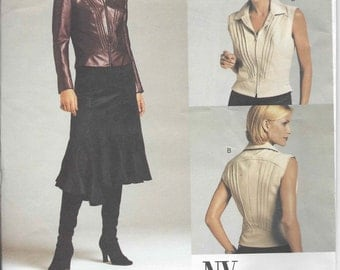 Vogue 2704 NYNY Top & Skirt pattern OOP Size 8-10-12