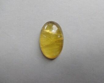 Golden Fluorite oval cabochon 29x19 mm
