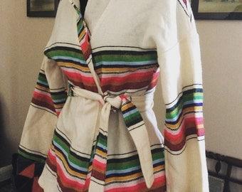 The best vintage belted sarape jacket. Ideal for those cool summer nights!
