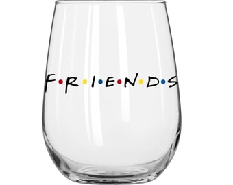 Friends Logo - Phoebe - Joey - Ross - Rachel - Monica - Chandler - Friends TV Show