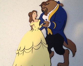 Beauty and the Beast die cut
