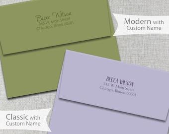 Custom Envelope Return Address Printing / Personalized Envelopes / A2 Envelopes