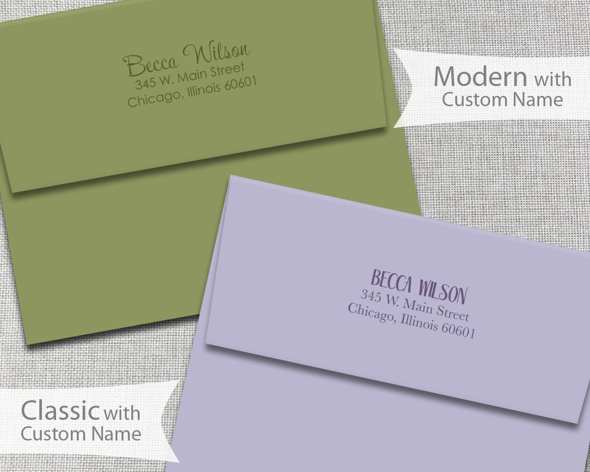 labels addresses envelope styles and sizes
