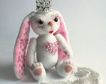 """Pattern / Tutorial Beaded Ornament - Master class for creating """"Bunny-Princess"""""""