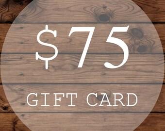 Christmas Gift Certificate | Gift Card | 75 Dollars | WiscoFarms | Christmas Gift | Wedding Gift | Birthday Gift