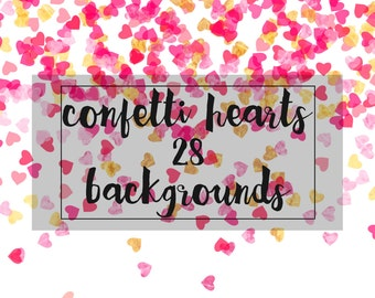 Hearts Confetti, for personal and small commercial use