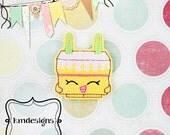 Shop Inspired Birthday Cake Feltie ITH Embroidery Digital Design File