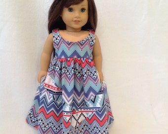 """American Girl Doll (or other 18"""" doll) summer time dress"""