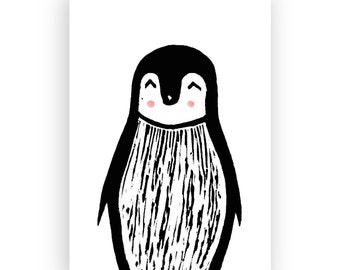 Postcard ' Maurice the Penguin'