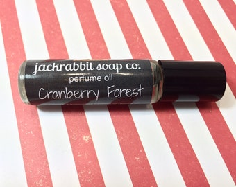 Cranberry Forest Perfume Oil, Cranberry Perfume, Roll On Perfume, Christmas Perfume, Holiday Perfume, Cedar Perfume, Currant Perfume