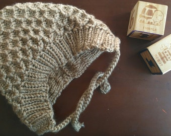 Hand Knit Hat For Baby *