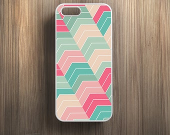 Pink Green Chevron Pattern. iPhone 4/4s, iPhone 5/5s, iPhone 5c, iPhone 6, iPhone 6 Plus Case Cover 089