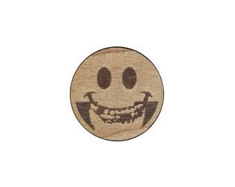 SmileyFits Laser Cut Label Pin
