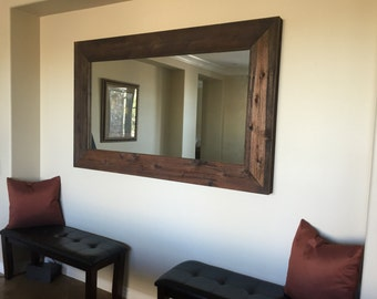 Reclaimed wood framed mirrors