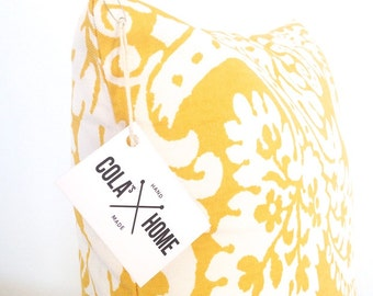 Yellow cushion cover, yellow decorative pillow, cushion, pillow cover, yellow pillow cover, pillow