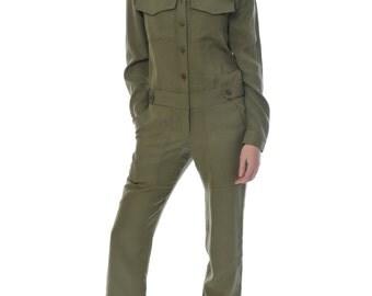 Military silk overall