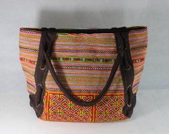 bohemian handmade bag embroidered ethnic Hmong tote boho bag, bohemian168