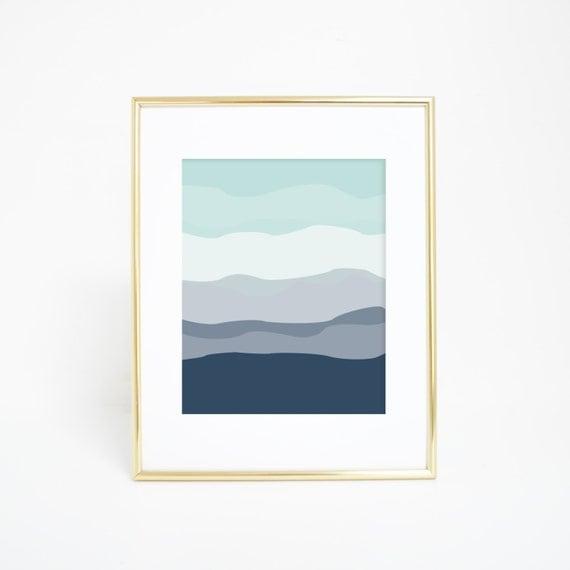 Printable Wall Art, Wall Art, Mint Print, Minimalist Print, Modern Decor, Minimalist Art, Navy Blue Decor Best Selling Item Downloadable Art