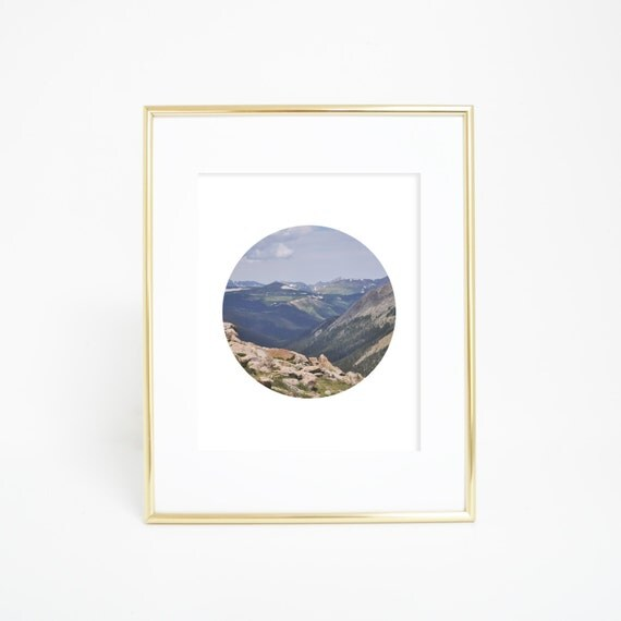 Wilderness Prints, Colorado Print, Digital Print, Mountain Photography, Circle Wall Prints, Mountain Art, Circle Print, Printables