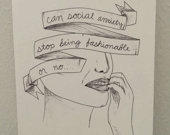 Social Anxiety Print