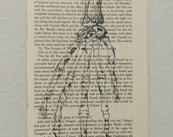 Hand Bones Book Page Print