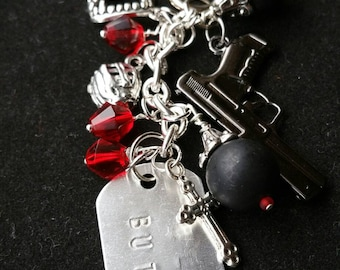 BDB- Black Dagger Brotherhood- inspired. Zipper pull for the character Butch.