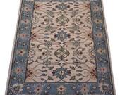 2x3 Indian Soumak rug - blue rug, home decor, bathroom rug, kitchen rug, small rug, hand knotted rug, handmade rug
