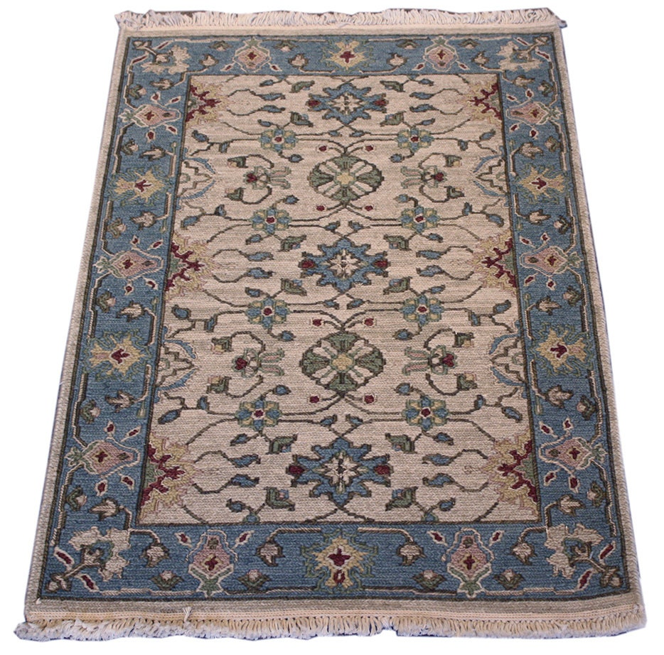 2x3 Indian Soumak Rug Blue Rug Home Decor By MainStreetRugs