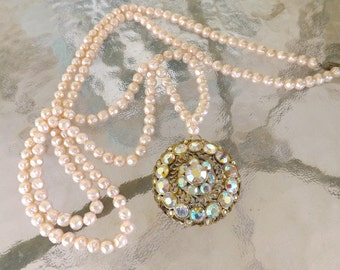 Vintage Upcycled Pearl Necklace