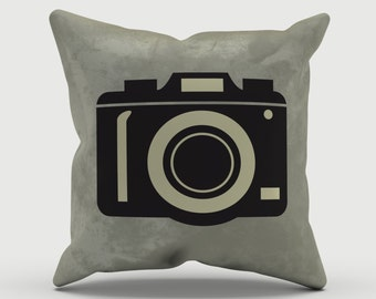 Throw Pillow - Camera Pillow - Decorative Pillow - Photographer Gift - Decorative cushion  - Vintage Camera pillow