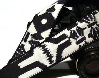 Aztec Camera Strap. DSLR Camera Strap. Black and White Camera Strap. Camera Accessories. Christmas Gifts