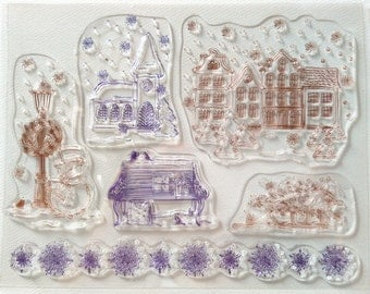 clear stamp set (sweet home)