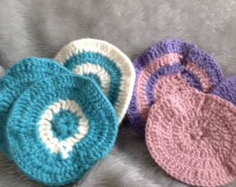 Circle face scrubby pack of 6