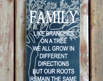 Family tree Sign - Hand painted Custom / Personalized - this family sign - Wooden Sign - Wedding gift - housewarming gift