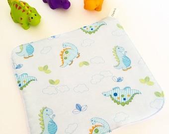 Dinosaur Bath Washer / Bath time / Fun / Baby blue