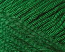 Cotton yarn grass green colour creative cotton aran crochet yarn Rico Design 50 g 85m (92 yards) needle size 4-5 EU (US 6-8) sunny yellow