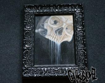 "Skull - oil painting, ""Heavy"""